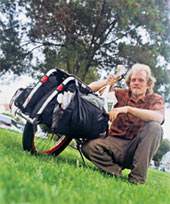 Ross Evans with Xtracycle